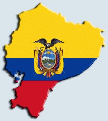 Ecuador Escudo y Mapa