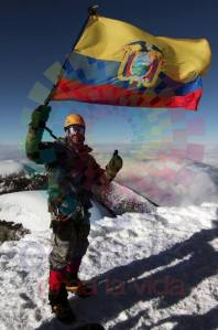 Correa en el volcan